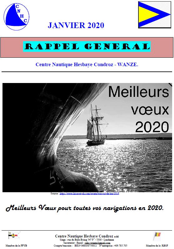 Rappel Général Janvier 2020